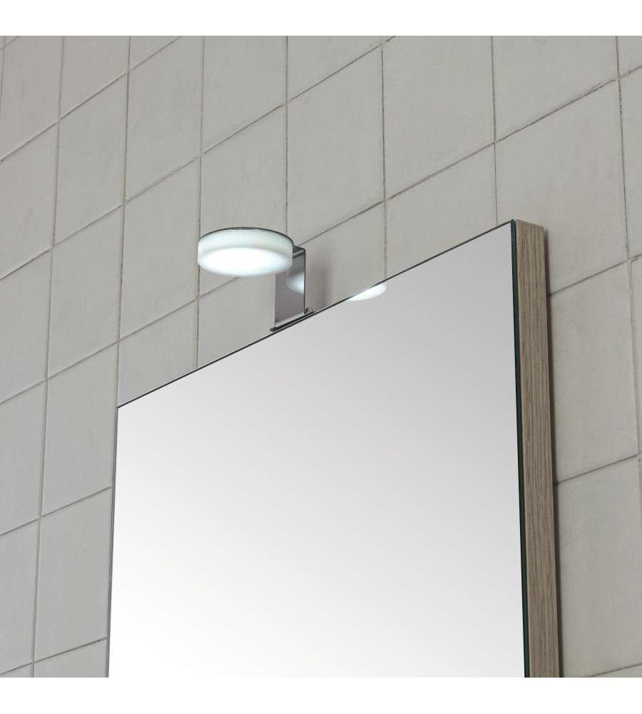 Specchio Luce Bagno.Lampada A Led Universale In Acciaio E Plexiglass Per Specchio Bagno Larghezza 5 5 Cm Da 4 Watt