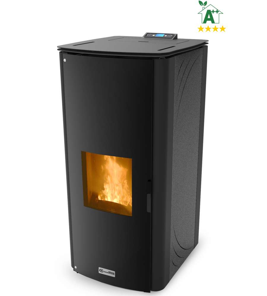 TERMOSTUFA A PELLET 'CLASS THERMO 34' GRIGIA - CANADIAN STOVE.