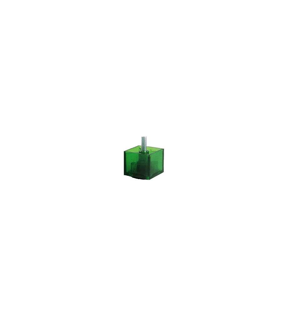 Piedini In Plastica Serie Kubic 50x50 H 42 Mm Verde Smeraldo