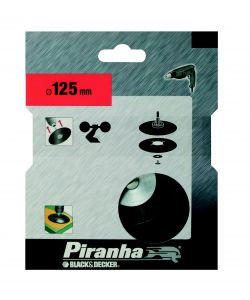 PIRANHA - PLATORELLO PER TRAPANO DIAMETRO 125MM 'X32095'.