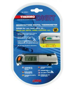 TERMOMETRO THERMO-DIGITALE INTERNO/ESTERNO   Dimensione: 115x27x15 mm