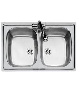 lavelli in acciaio inox in vendita online - eurobrico - Lavello Cucina 2 Vasche