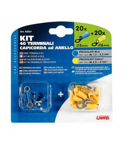 KIT 40 CAPICORDA ANELLO BLU/GIALLO