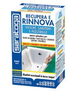 Kit ripara vasche e sanitari recupera e rinnova saratoga - Smalti bicomponenti per pitturare piastrelle o ceramiche ...