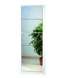 Scarpiera bianca 5 ribalte a specchio - Scarpiera a specchio ...