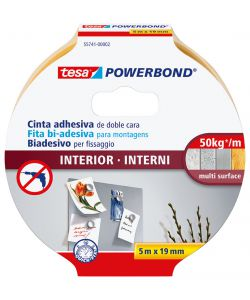 NASTRO BIADESIVO PER INTERNI 5MX19MM.