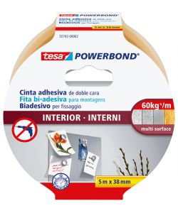 NASTRO BIADESIVO PER INTERNI 5MX38MM.