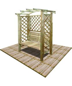 Offerta panchina giardino acciaio e legno for Eurobrico arco