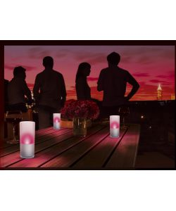 PHILIPS GLASS 3 CANDLE LIGHTS ROSSO - 3 X 6W.