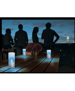 PHILIPS GLASS 3 CANDLE LIGHTS BLU - 3 X 6W.