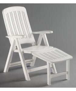 Sedia verde da giardino comfort vega for Sedia plastica bianca