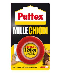 PATTEX MILLECHIODI TAPE ROTOLO 19MM X 1,5M