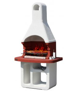 BARBECUE SUNDAY 'FLORIDA' IN MURATURA PER ESTERNO - 114x71x220H.