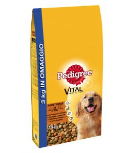 PEDIGREE DRY ADULT POLLO/RISO 12+3 KG