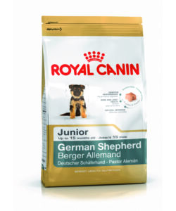 ROYAL CANIN, GERMAN SHEPERD JUNIOR, 12KG DI CROCCHETTE PER CANI FINO AI 15 MESI.