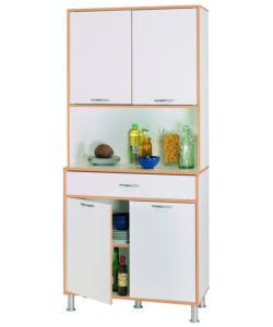 Mobili cucina pensile scolapiatti bianco 80 cm 2 ante - Mobile porta microonde ...
