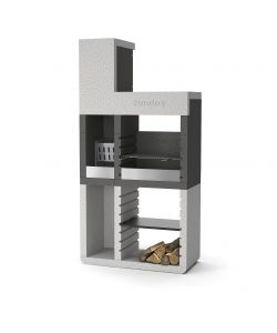 BARBECUE SUNDAY 'ONE TOWER' IN MURATURA PER ESTERNO - 106x49x213H.