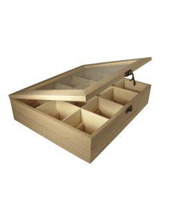Dispenser in legno porta tisane te 12 scomparti 28 5x23 5x7 cm - Porta tisane fai da te ...