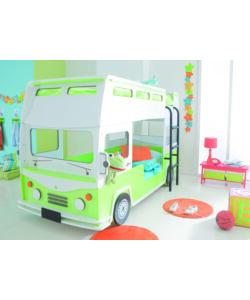 Letto a castello autobus 90x190 200 cm - Letto bimbo auto ...