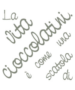 STICKERS M WORDS UP CIOCCOLATINI - DECORO CREARREDA.