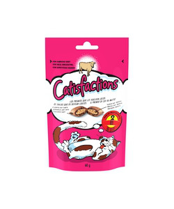 CROCCANTINI PER GATTO 'CATSFACTION' AL MANZO - 60 GR.