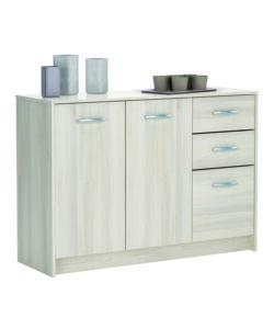 Mobiletto con antine e cassetti borea acacia - Ikea mobiletti multiuso ...