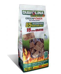 DIAVOLINA GREEN POWER BAG - 85 ACCENSIONI NATURALI.