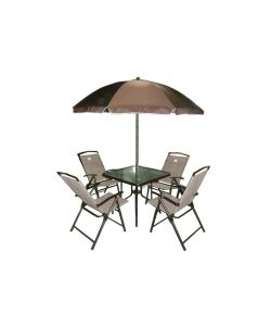 Set da giardino tavolo sedie ombrellone - Set tavolo e sedie da esterno ...