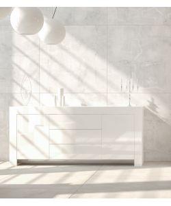Mobile soggiorno moderno bianco laccato basso con 2 ante 3 - Mobile basso moderno ...