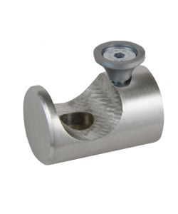 2 SUPPORTI A SOFFITTO 11-15 CM INOX APERTO PER TUBO TENDA DIAMETRO 20 MM