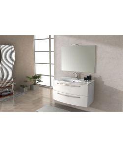 composizione mobile bagno stella 100 colore bianco lucido baden haus