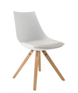 Sedie e sgabelli eurobrico for Sedia bianca moderna