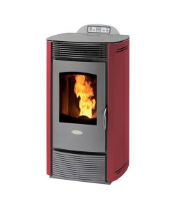 STUFA A PELLET VENTILATA M1 COLOR BORDEAUX - 10 KW.
