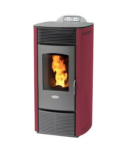 STUFA A PELLET VENTILATA Z12 COLOR BORDEAUX - 12 KW.