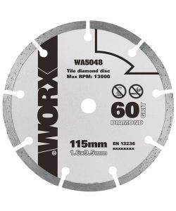 WORX - DISCO DA TAGLIO DIAMANTATO 115MM 'WA5048'.