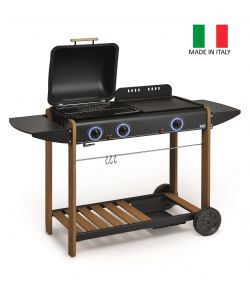 BARBECUE A GAS PIETRA LAVICA 'ROMEO' GPL O METANO MADE IN ITALY - BST.