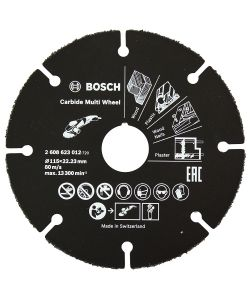 BOSCH DISCO UNIVERSALE IN CARBURO PER SMERIGLIATRICE 115 MM