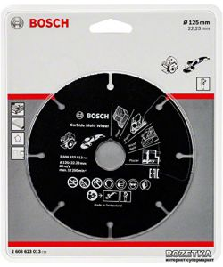 BOSCH DISCO UNIVERSALE IN CARBURO PER SMERIGLIATRICE 125 MM