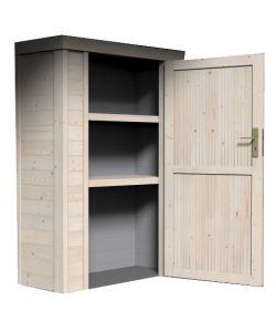 Legnaie e box attrezzi eurobrico for Armadio legno giardino