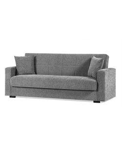 divano letto nora 2 posti grigio - dimensioni l. 160 x h. 83 x p. 73 cm.