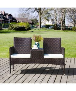 PANCHINA 'BENCH LOVERS' IN PE RATTAN COLORE ANTRACITE