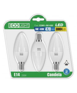3 LAMPADINE A LED - MINI GLOBO