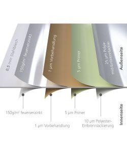 biohort casetta highline h5 in acciaio zincato argento con porta a due battenti 275 x 315 x 222h. Black Bedroom Furniture Sets. Home Design Ideas