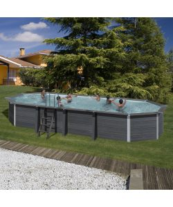 GRE - PISCINA OVALE 'AVANTGARDE' IN MATERIALE COMPOSITO - 804 x 386 H124.