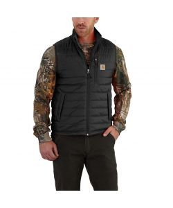 GILET GILLIAM NERO IN NYLON E CORDURA CARHARTT TAGLIA S.