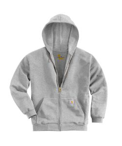 FELPA CON ZIP HOODED SWEATS GRIGIA CARHARTT TAGLIA S.