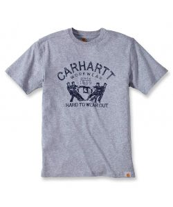 MAGLIETTA T-SHIRT HARD TO WEAR OUT GRIGIA CARHARTT TAGLIA S.