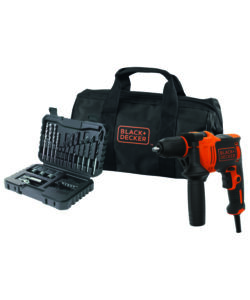 TRAPANO A PERCUSSIONE 710W IN SOFTBAG CON 32 ACCESSORI - BLACK+DECKER.