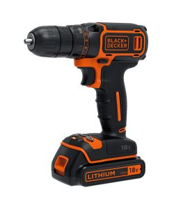 TRAPANO AVVITATORE 18V LITIO IN VALIGETTA CON 2 BATTERIE - BLACK+DECKER.