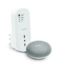 PRESA CONNESSA DA INTERNO 'HOME PLUG WI-FI' E ASSISTENTE VOCALE 'GOOGLE MINI'